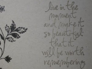 live in this moment